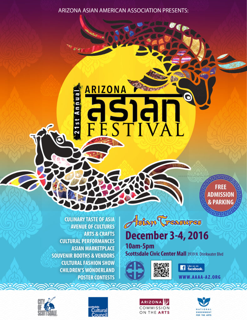 2016 Arizona Asian Festival Poster